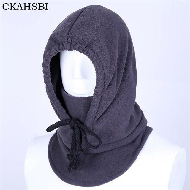 12d170867 CKAHSBI Windproof Face Mask Hat Winter Fleece Warm Hat Unisex ...
