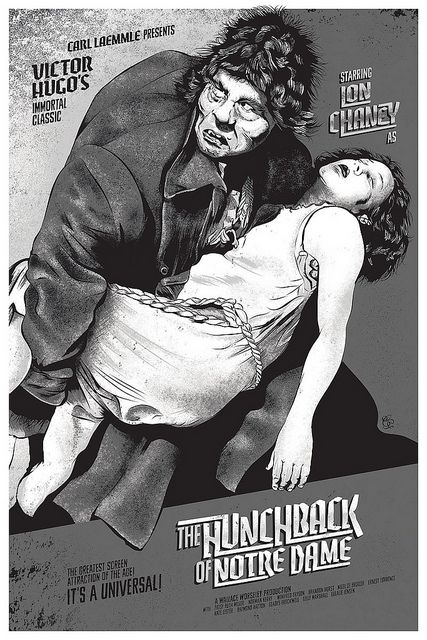 The Hunchback Of Notre Dame 1923 Screen Print Poster by Changethethought, via Flickr