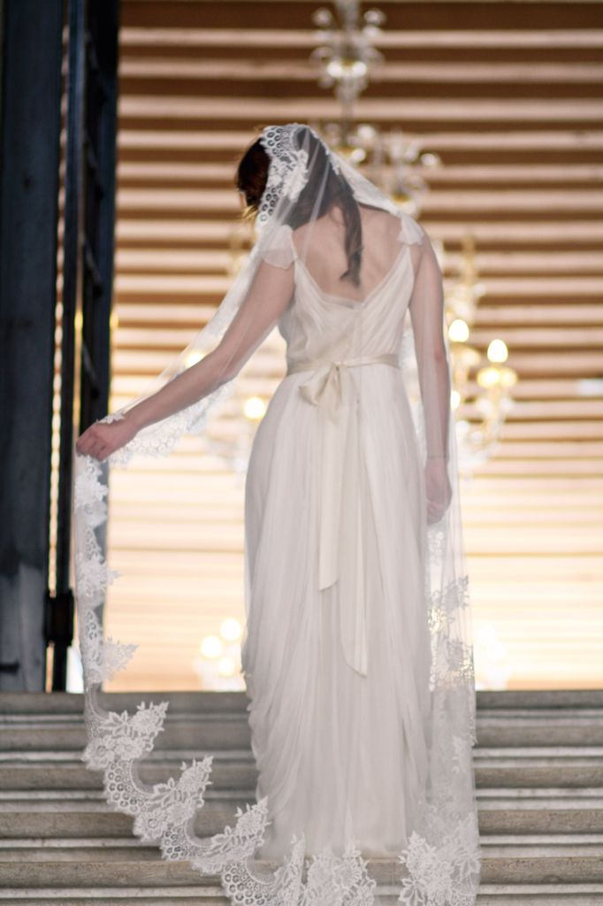 All About Romance  | Austen Mantilla Veil  Photography by Justina Bilodeau Photography
