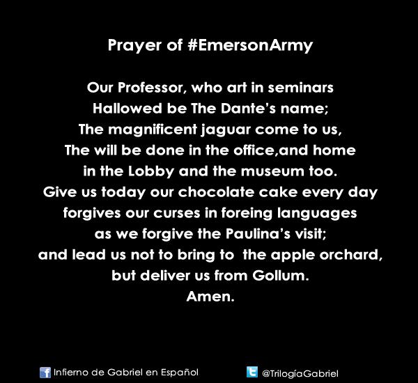 Prayer of  #EmersonArmy