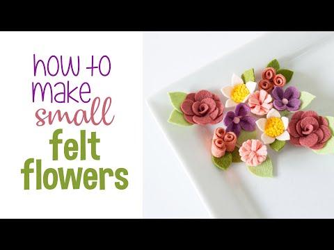 How to make SMALL Felt Flowers - Instagram Live