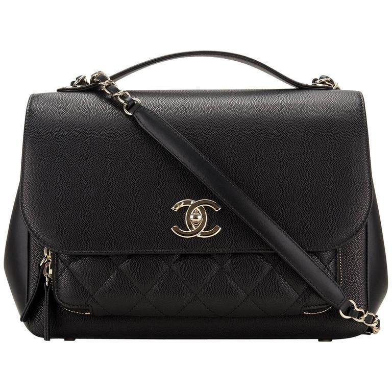 efa86799c248 Chanel Black Business Affinity Caviar Classic Flap Bag