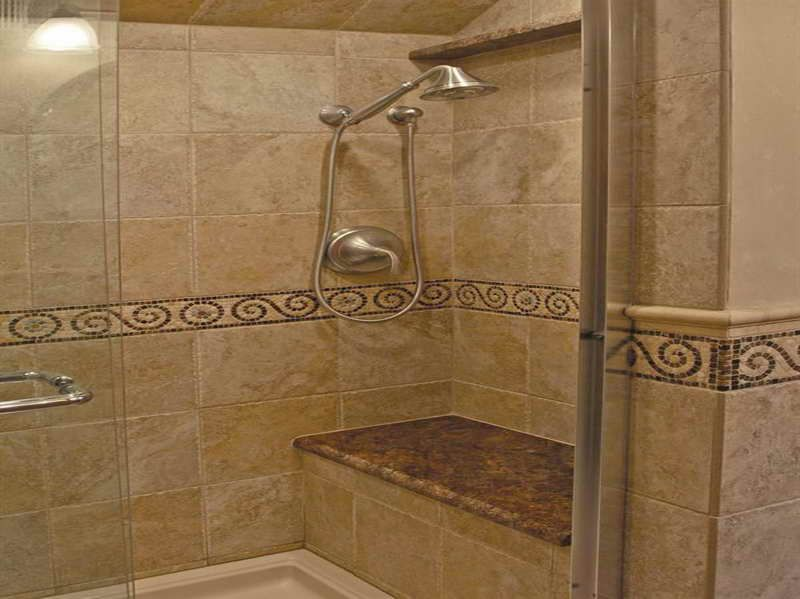 tiling bathroom walls the excellent photo above is section of tile shower walls ideas - Shower Wall Tile Designs