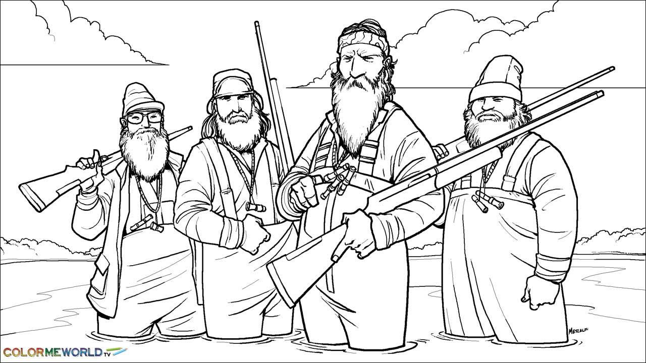 Duck Dynasty Coloring Page Wallpaper