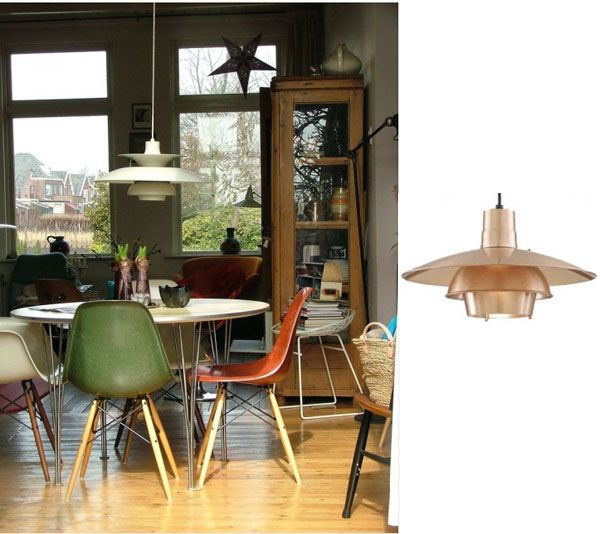 Mid Century Modern Homes With Retro Pendant Lighting For