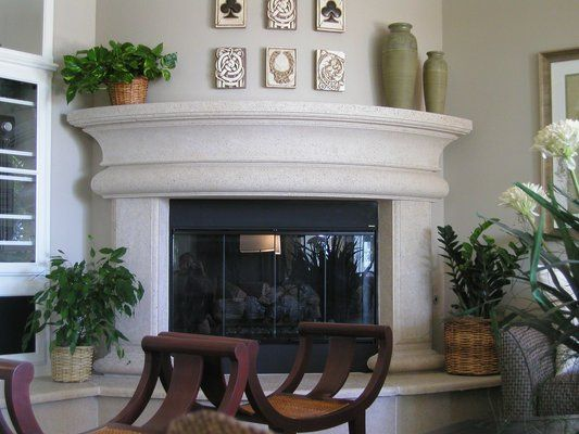 Catalina Curved Fireplace Surround