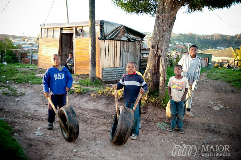Young boys participate in a very popular pastime in many rural parts of South Africa.  Photograph by MajorMultimedia.com