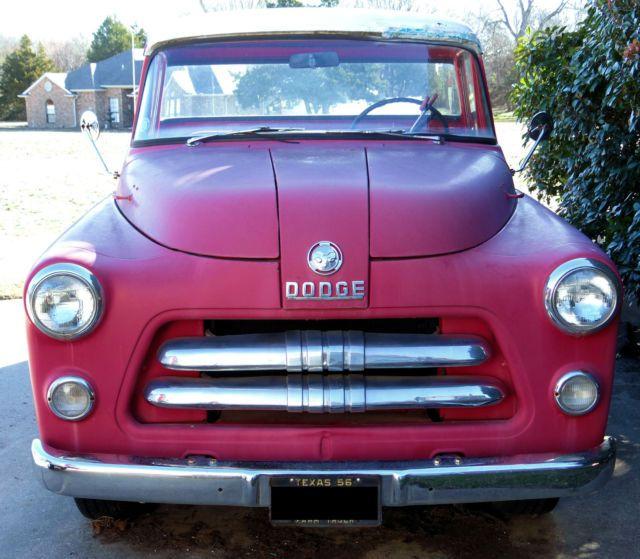 1956 Dodge Ram 1/2 Ton Pickup 6 Cyl 1954 1955 1957 Rat Rod