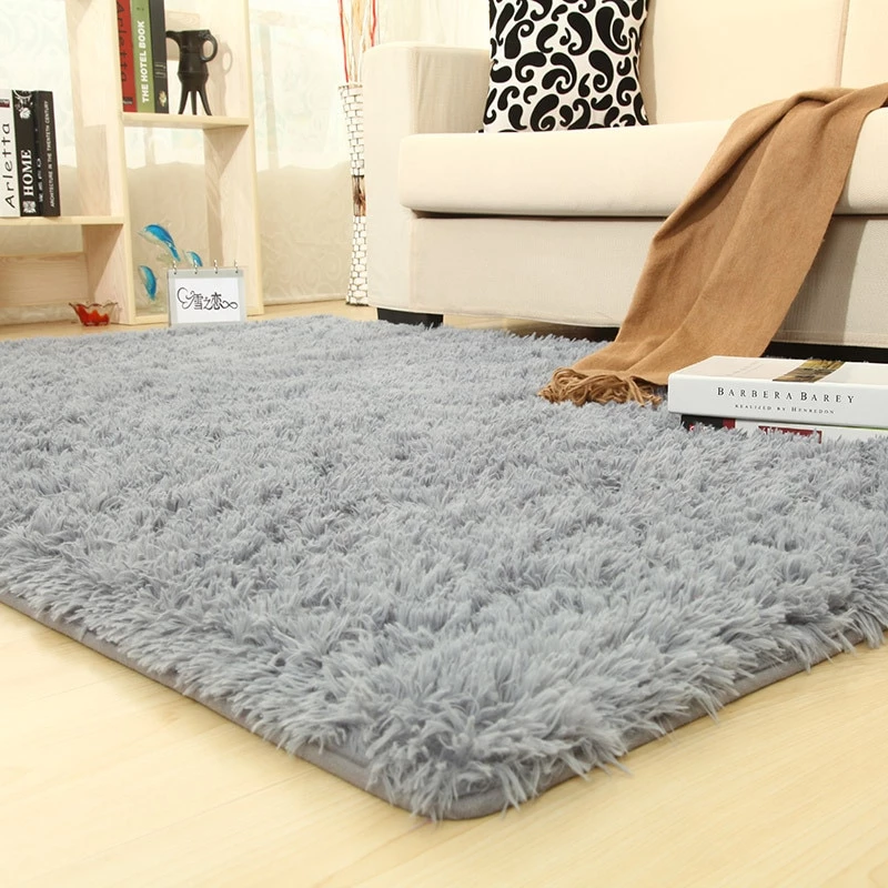 Thicker Bathroom Non Slip Mat Area Rug Living Room Carpet Rugs In Living Room Solid Rugs