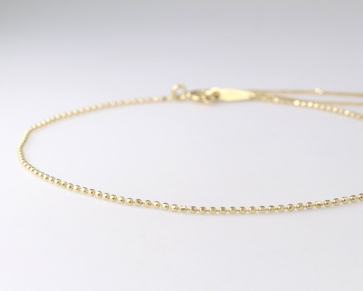 14k Solid Gold Delicate Bracelet Dainty Chain Thin Layering Minimalist By Goldengesture