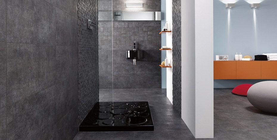 Murs et sol en ardoise dans salle de bains Marcacorona Salle de