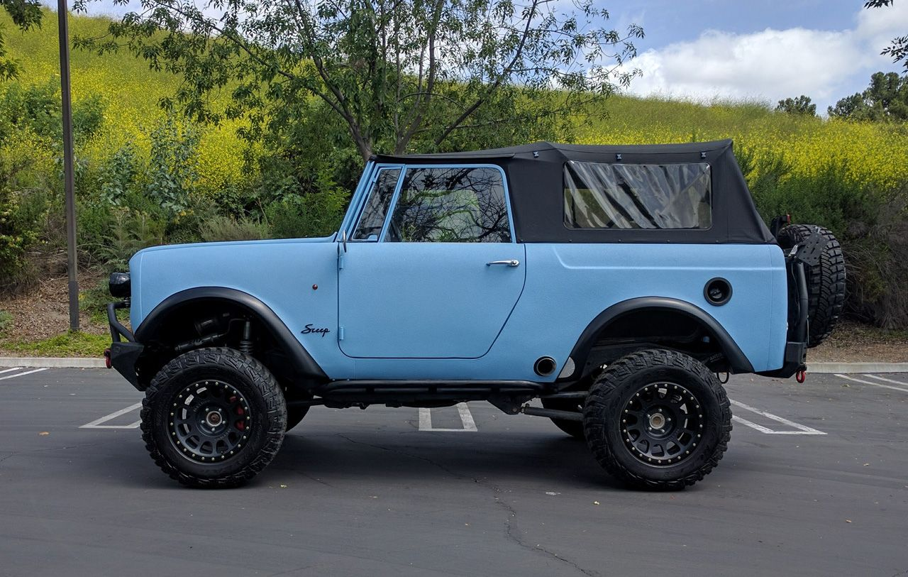 1969 International Scout 800 ontop of 2009 Jeep Rubicon
