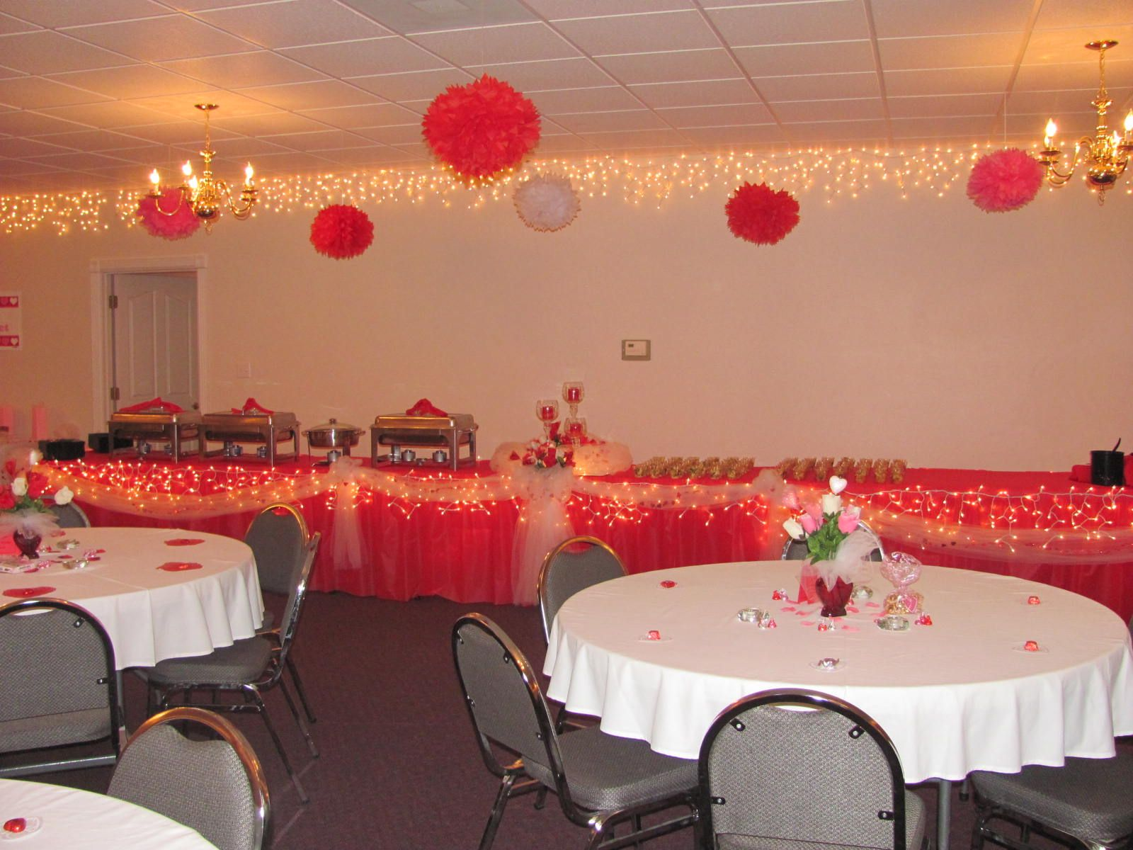 i used these pom poms at our church valentines banquet they are simple yet they are