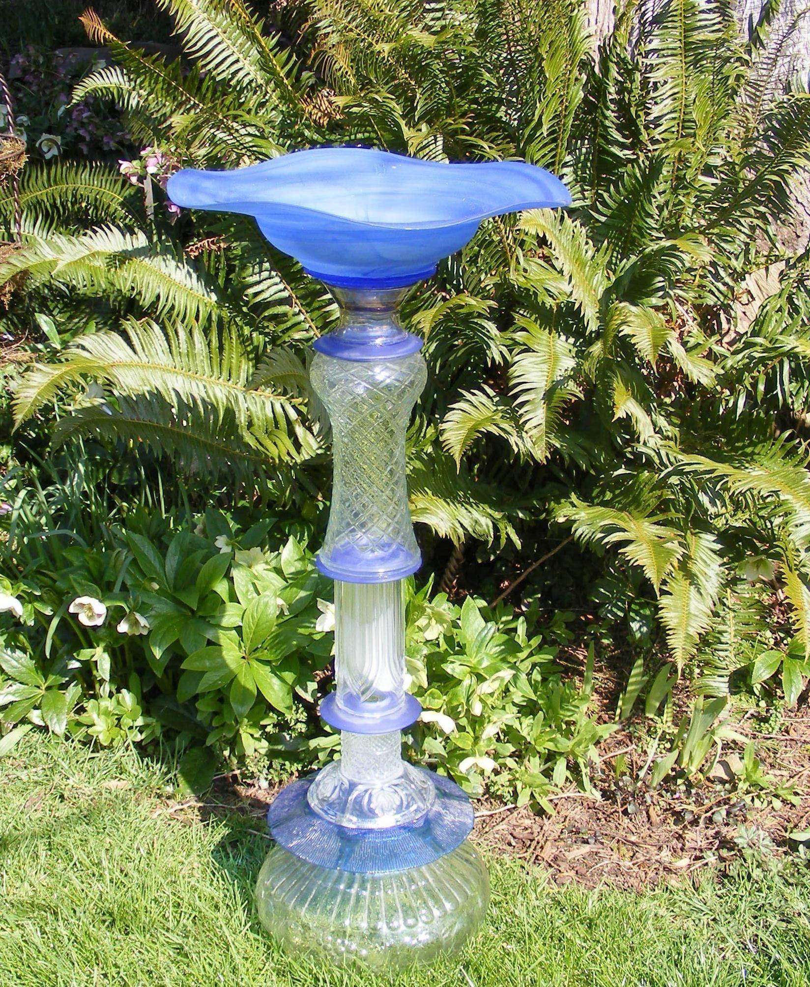 recycled glass garden art | garden | Pinterest