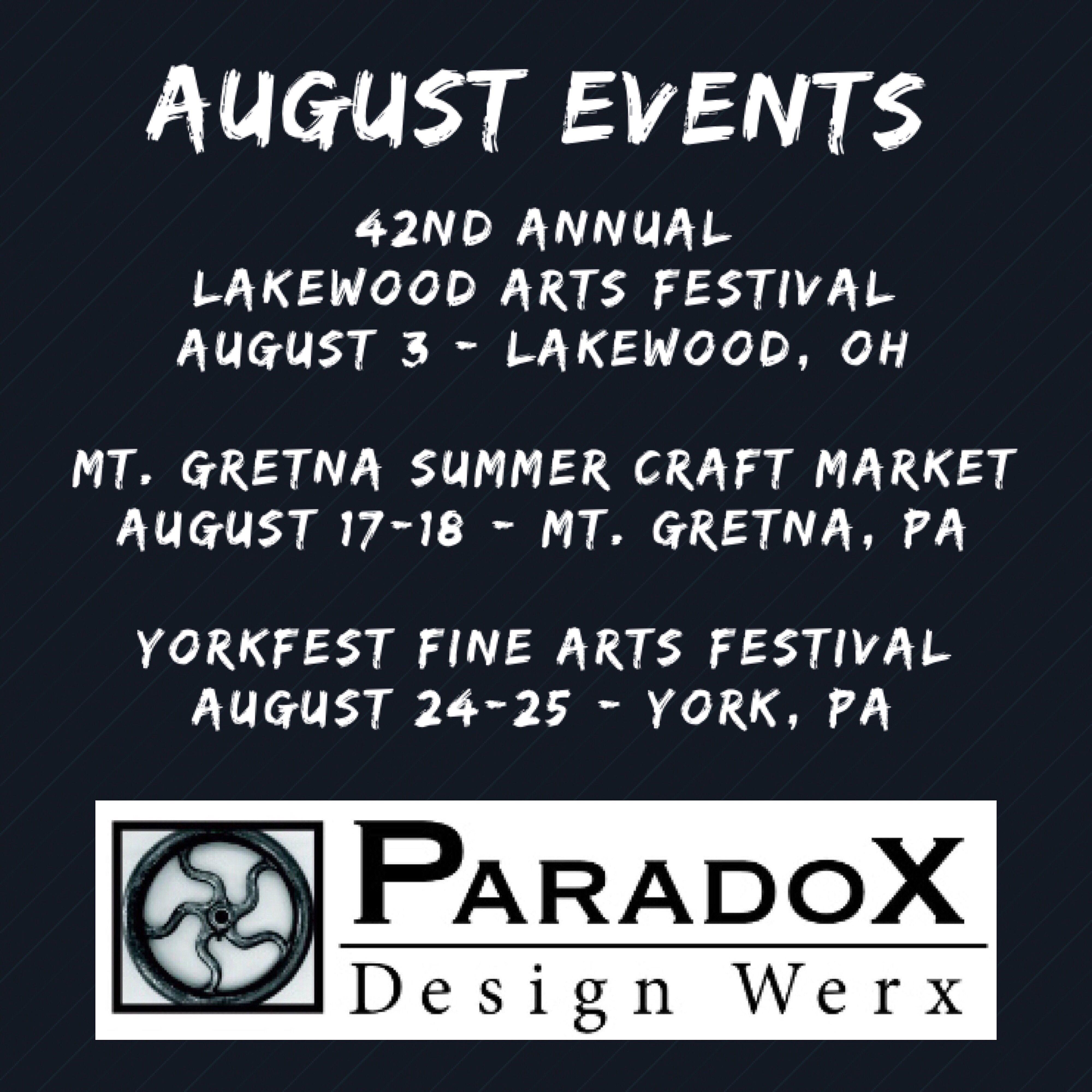See You In August Lakewoodartsfestival Mtgretna