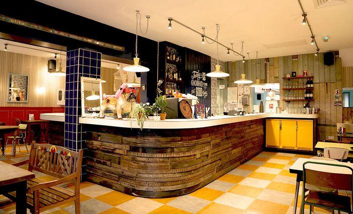 The Secret Seventies Bar Hidden Inside A Retro Laundromat Cafe Bar Design Restaurant Restaurant Interior Bar Design Awards