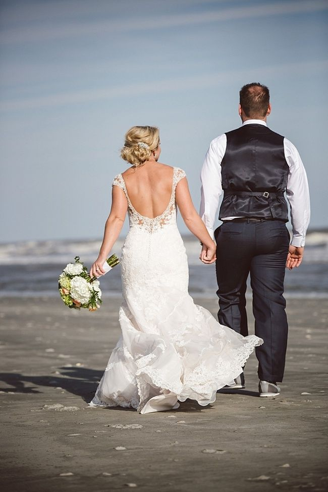 Charleston South Carolina Wedding At Folly Beach Her Dress By The