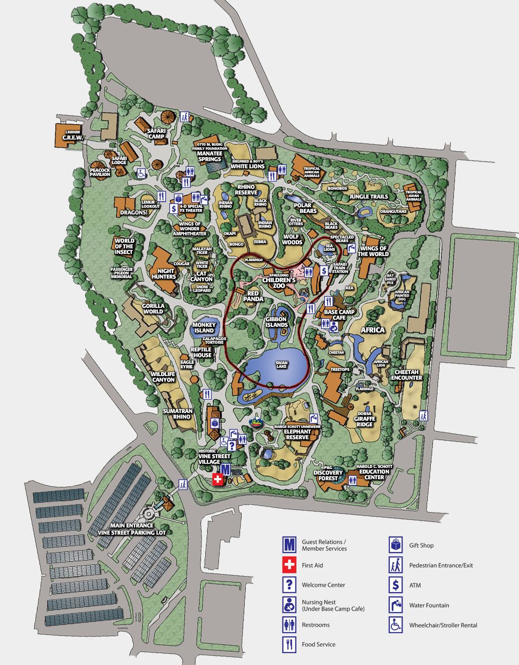 Image Result For Cincinnati Zoo Map