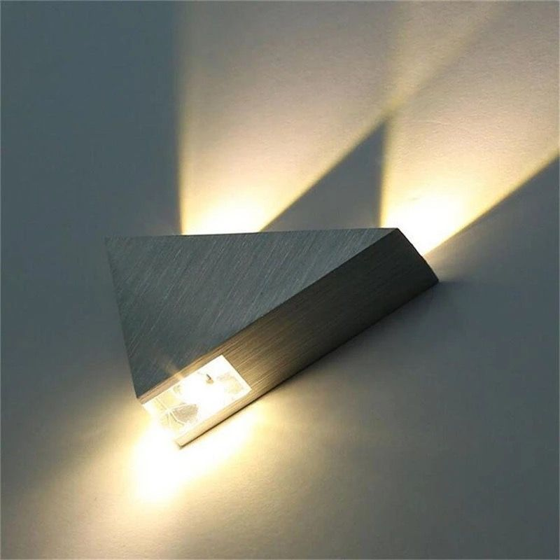 Smartway 9w Led Convex Lens Triangle Wall Lamp Warm White In 2020 Wall Lamp Led Wall Lamp Wall Lights