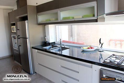 Amoblamiento cocina melamina color litio combinado con - Amoblamiento de cocina ...
