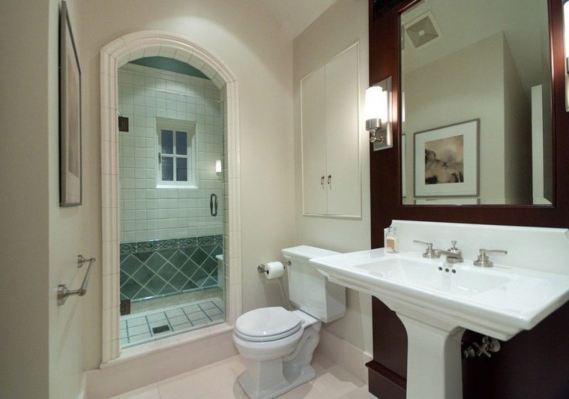pedestal sink with backsplash wall decoration toilet built in ...