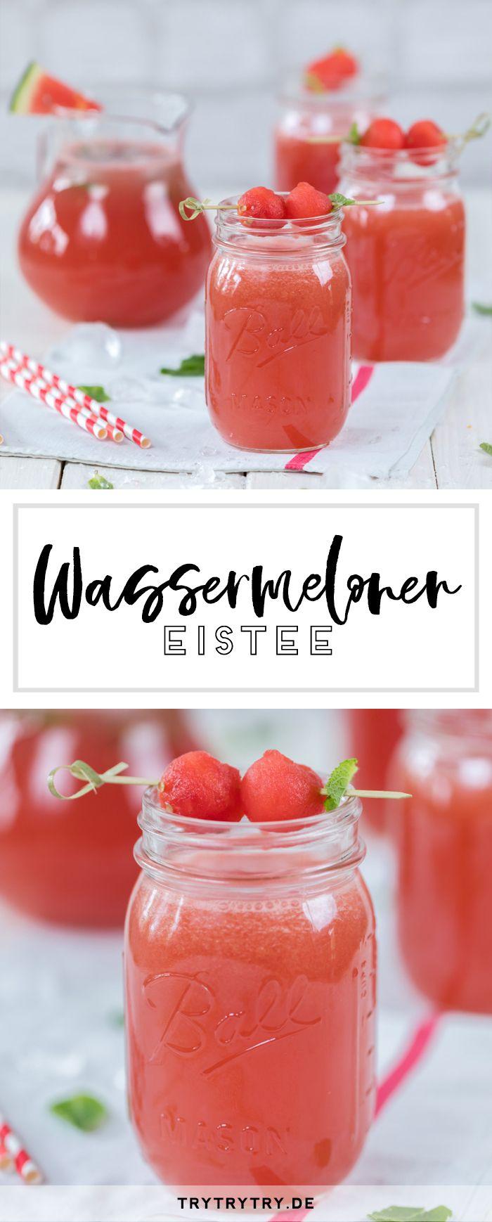 Wassermelonen Eistee #melone #eistee #getränk #drink #sommer ...