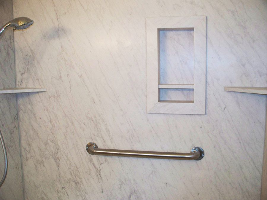 DIY shower wall panels and accessories - 14 x 22 niche and corner ...