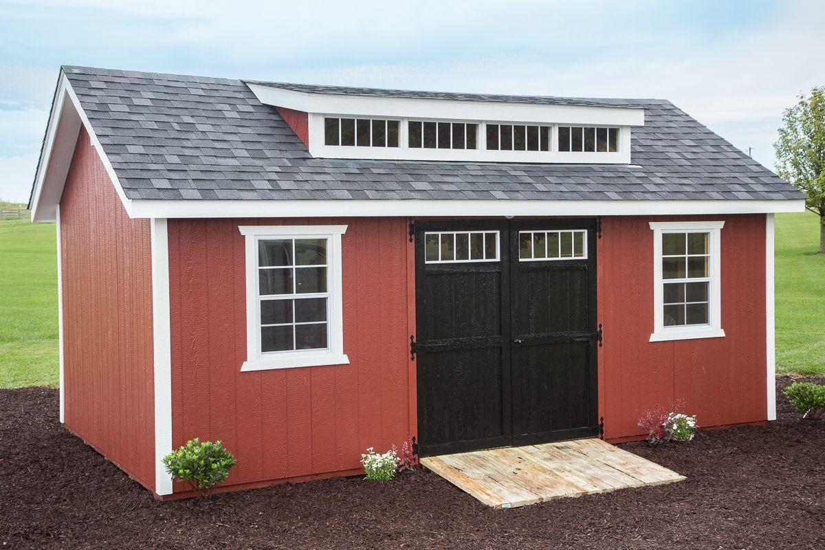 12x20 Painted Shed Dormer   Byler Barns