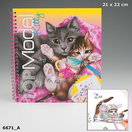 Top Model 046671/_A Create Your Kitty Colouring Book
