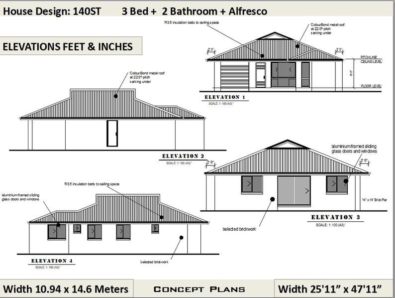 140 M2 1506 Sq Foot 3 Bedroom House Plan 140st Etsy In 2021 House Plans House Plans For Sale Bedroom House Plans