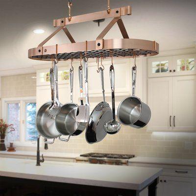Enclume Handcrafted Oval Ceiling Hanging Pot Rack | Pot ...