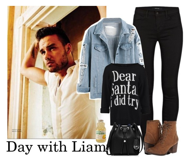 """""""Day with Liam"""" by stellasmathio ❤ liked on Polyvore featuring Payne, J Brand, WithChic, Madden Girl, MICHAEL Michael Kors, OneDirection, LiamPayne, Boots, onedirectionoutfits and blackoutfit"""