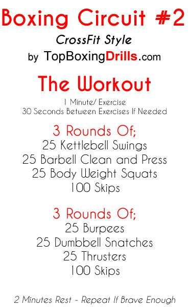 Weighted boxing circuit training workout for gym or home