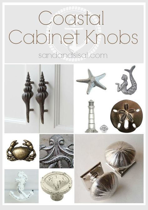 this creative selection of coastal cabinet knobs and pulls will