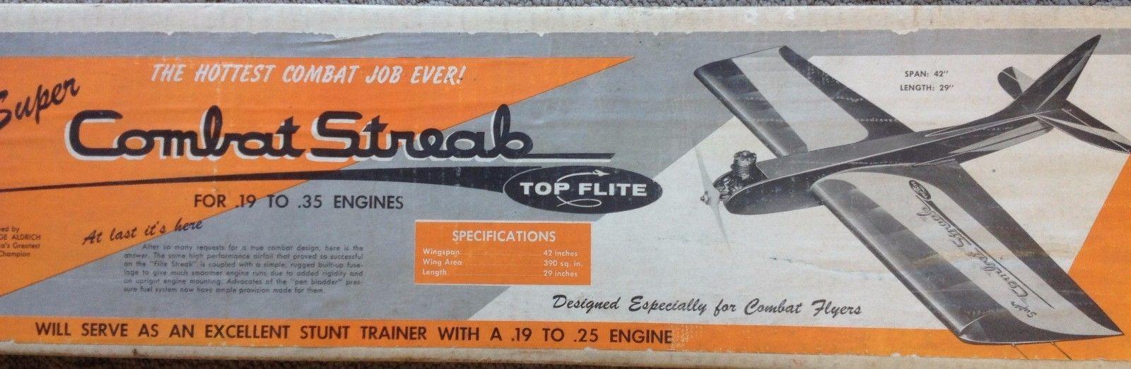 Vintage TOP Flite Control Line Model Plane KIT Super