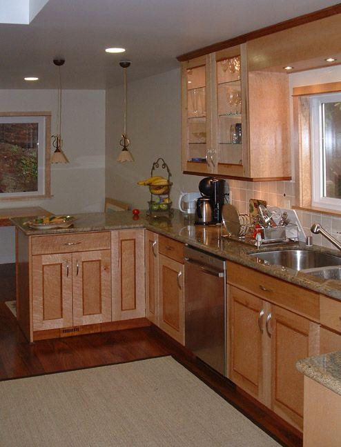 Birdseye Maple Kitchen Cabinets