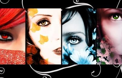 Seanson abstract women faces HD Wallpaper