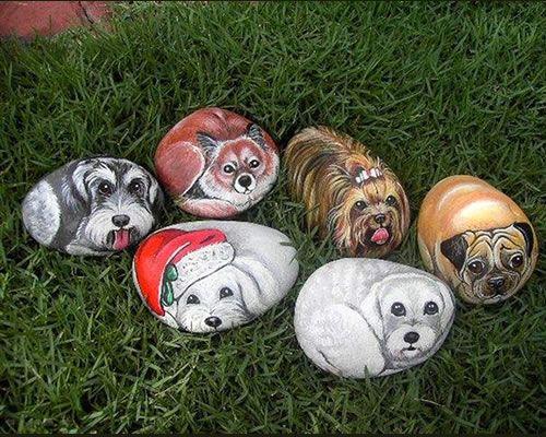 Piedras pintadas animales piedras pinterest for Ideas para pintar piedras