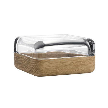 Iittala - Large Vitriini Box - Clear/Oak