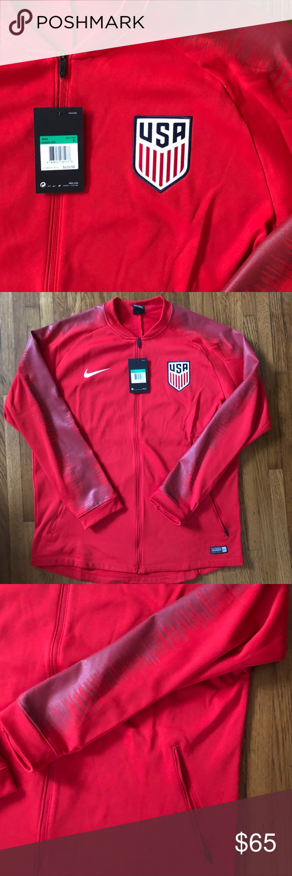 382b1da87 Nike Men's 2017 US Soccer Team Track Jacket XL NWT Brand new and a great  deal. Zip up Track Jacket made from Nike's Dri-Fit fabric.