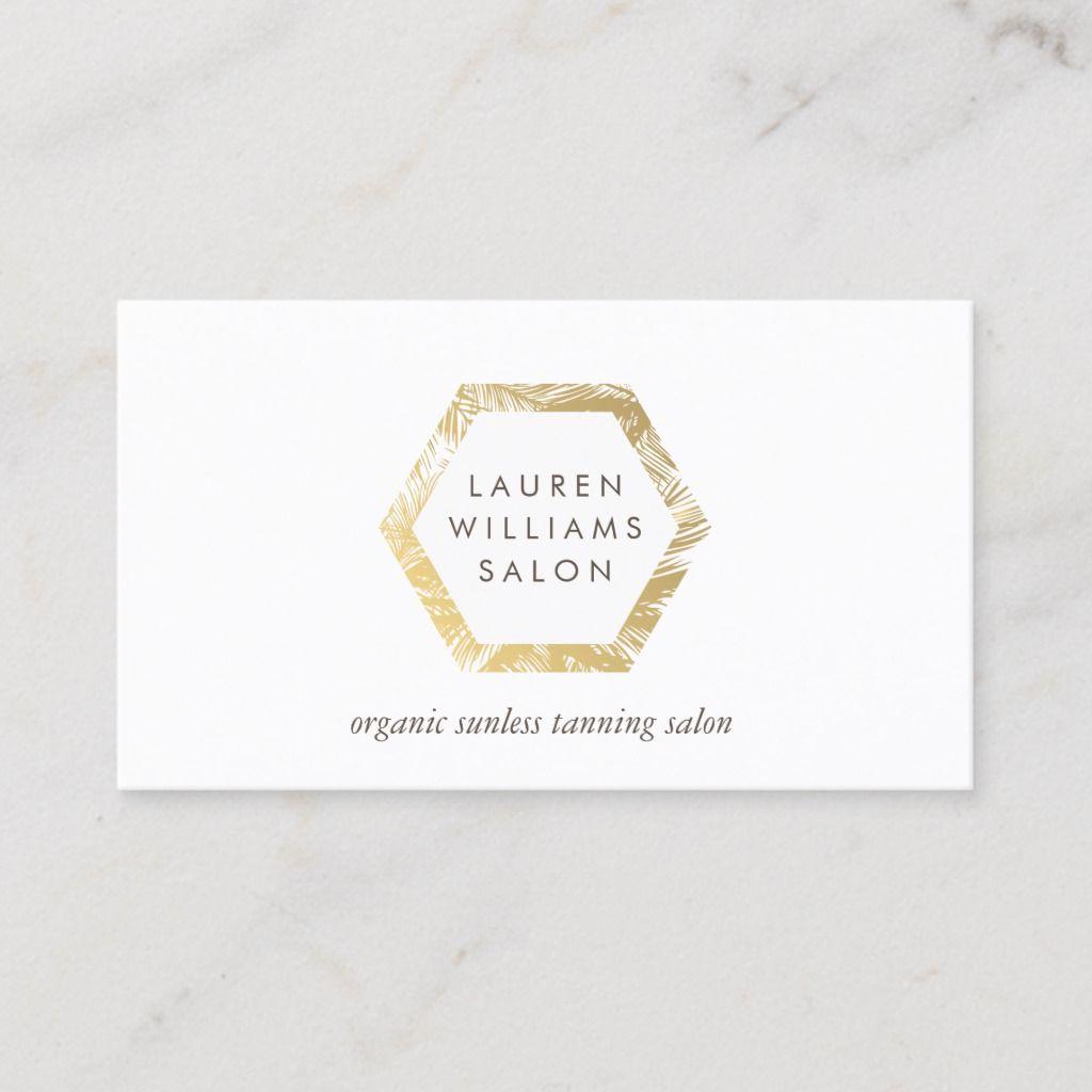 Golden Palms Spray Tanning Salon Logo On White Business Card Zazzle Com Spray Tan Salons Salon Logo White Business Card
