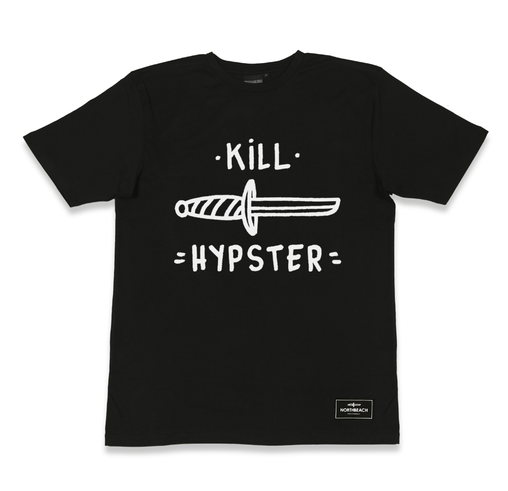 """Tee Shirt NORTHBEACH """"Hypster"""". 100% Coton, Sérigraphie Blanche. www.northbeach.fr"""