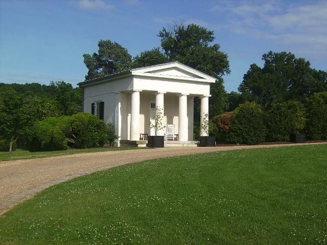 Tiny Greek Revival Homes Tiny Greek Revival Perfection One Of Two Temple Form Guest Houses At Greek Revival Home Greek Revival Architecture Greek Revival