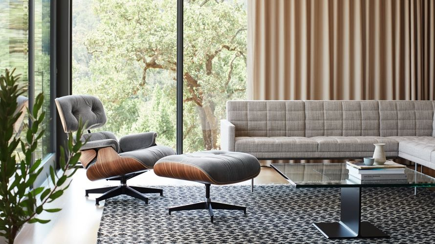 Eames Lounge Chair And Ottoman Herman Miller In 2021 Lounge Chairs Living Room Eames Chair Living Room Eames Lounge Chair Living Room