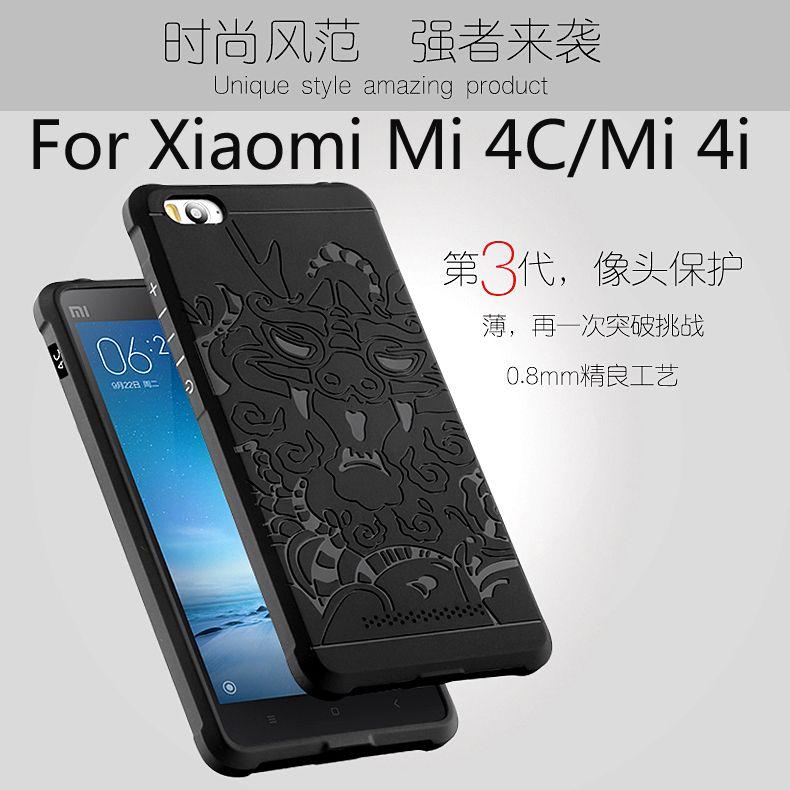 Luxe telefoon case voor xiaomi mi 4c/mi 4i hoge kwaliteit silicon hard protector cover voor xiaomi mi4c mobiele telefoon behuizing