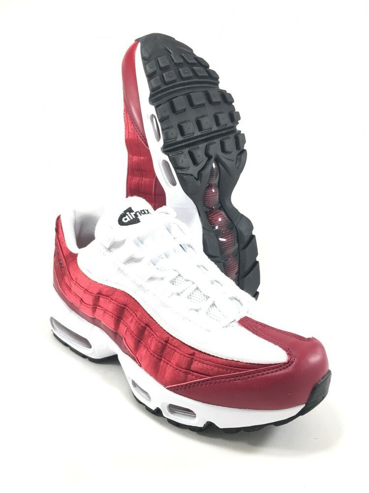best website 13dfb a3bd8 Nike Air Max 95 LX NSW Womens AA1103-601 Red Crush White Running Shoes Size