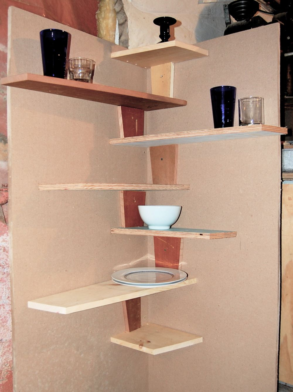 shelving ideas corner shelf