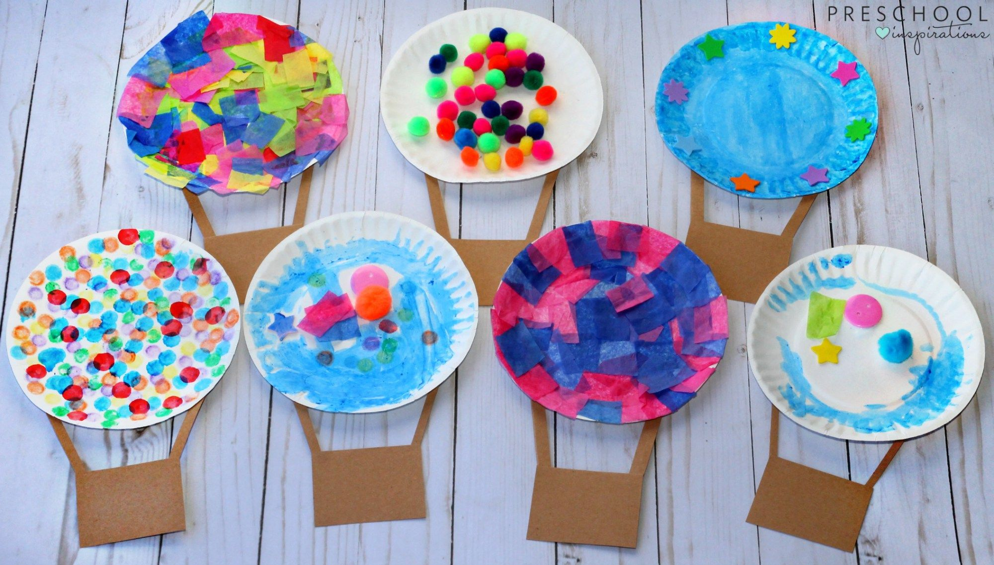 Hot Air Balloon Process Art Activity