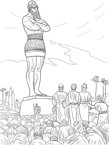 Daniel S Friends Refused To Worship The Statue Coloring Page From
