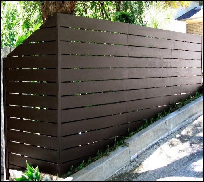 Contemporary Horizontal Vinyl Fencing Modern Fence Design Fence Landscaping Backyard Fences